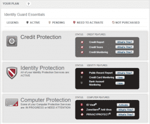 Identity guard home page