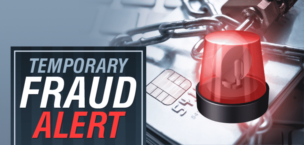 Temporary Fraud Alert